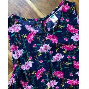 Old Navy Dresses - Navy and Pink Floral Dress